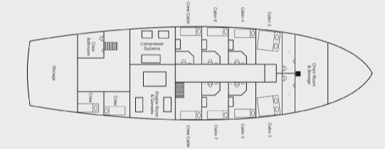 Deck plans indo aggressor luxury liveaboard - What side is port and starboard on a boat ...